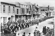 Cowbridge, King Edward VII Memorial Service 1910.
