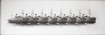 A Row of Ships