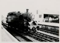 Steam Train Reversing After Bringing Train from...