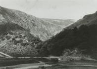 View of Dalarwen Left, Nant Neuadd Right.