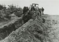 Preparing the land - Ifan Hughes and Wil Jones
