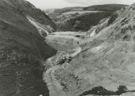 Building of Llyn Brianne Dam Wall