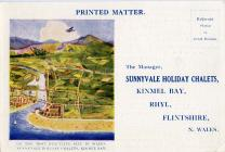 Advertising Postcard for Sunnyvale Camp.  See...
