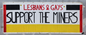 Banner made for the 2014 film Pride