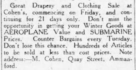 Advertisement for Drapery and Clothes (1915)