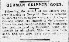 GERMAN SKIPPER GOES (1918)