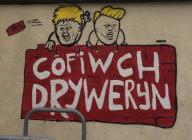 'Cofiwch Dryweryn' mural, Bangor,...