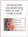 Hyssington Soldiers who died in the First World...