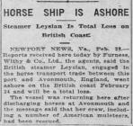 HORSE SHIP IS ASHORE (1917)