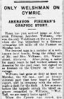 ONLY WELSHMAN ON CYMRIC (1916)