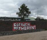 Cofiwch Dryweryn; mural, Swansea Beach