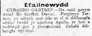 CYRAEDD GARTREF (1915)