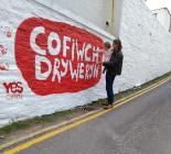 Cofiwch Dryweryn; mural, Llangrannog