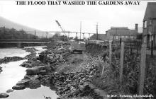 The flood that washed the River Neath bank away