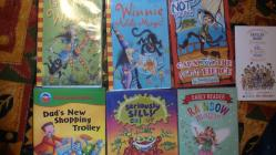 Some of the books that Kelsey read from the...