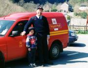 Postman Ray Gunn and grandson Curtis Gunn 2007