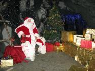 Santa at Corris craft centre 2009