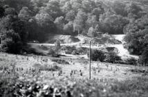 The slate waste tips of Rhiwgreiddyn quarry