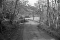 Country lane below the Rhiwgreiddyn slate mill