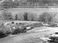 A view of the Rhiwgreiddyn slate quarry mill...