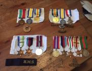 Family at War - WW1 and WW2 medals of George...