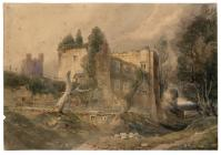 Castle and Landscape by J. M. Ince