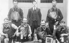 King George V visit to Dinas Miners Rescue...