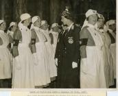 HRH Duchess of Kent inspecting St John Nurses 1937