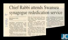 Newspaper clipping about the synagogue...