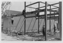 Construction of the new building, formerly...