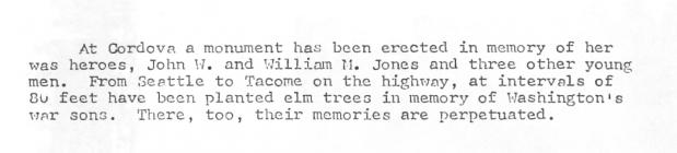 Funeral report for William and John Jones of...