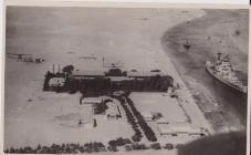 HMS Renown passing through the Suez Canal c...