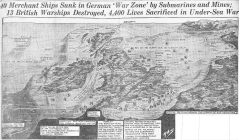40 Merchant Ships Sunk in German 'War Zone...