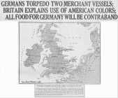 GERMANS TORPEDO TWO MERCHANT VESSELS