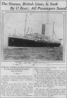 The Oronsa, British Liner, Is Sunk By U Boat;...