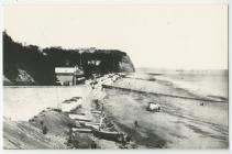 Penarth beach before the building of the Pier