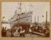 The Launch of the 'Eirene'.