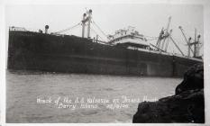 Wreck of SS Valsesia on Friar's Point. Barry...