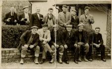 Workmen from Bowles Yard outside The Three...