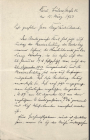 Letter from Carl Wodrig, Kiel, regarding the...