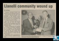 Newspaper clipping about the closure of the...