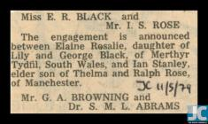 Newspaper clipping about the engagement of E. R...