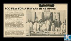 Newspaper clipping about the Newport Mon Hebrew...