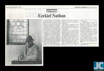 Newspaper obituary of Ezekiel Nathan, Newport,...