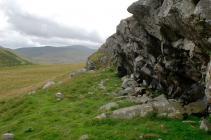 Flake Scars on Graig Lwyd Rock Face