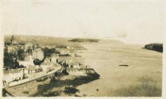 Golygfa o Bont y Borth i Fiwmares (1918)