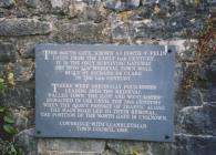 Wall plaque by South Gate, Cowbridge