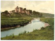 Kidwelly Castle, Carmarthen, Wales, c.1890