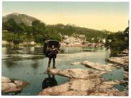 Golygfa gyffredinol, Llangollen, Cymru, c.1890