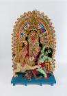 Image of the goddess Durga. Made in Cardiff, 2002.
